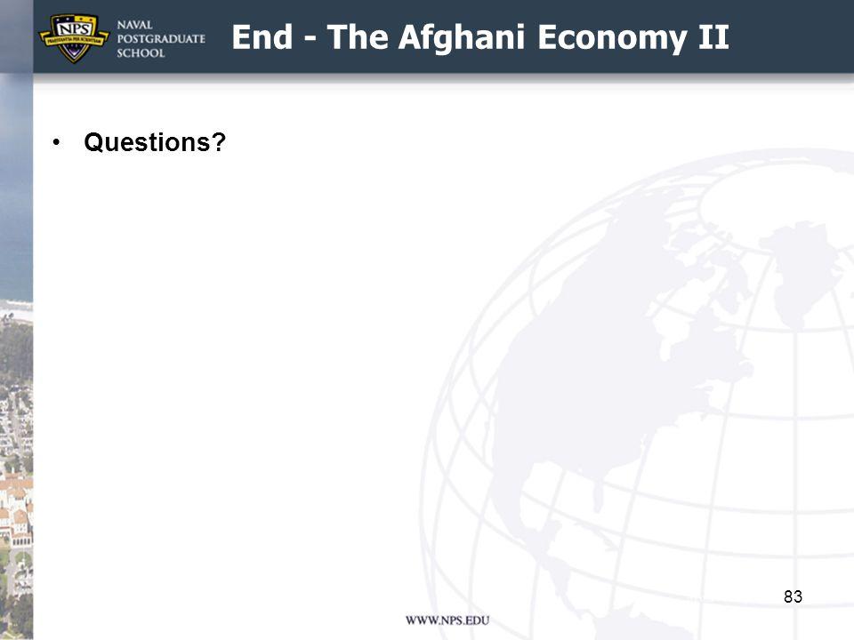 End - The Afghani Economy II