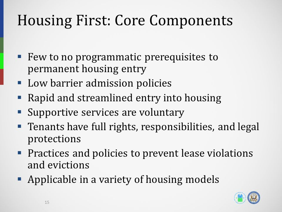 Housing First: Core Components