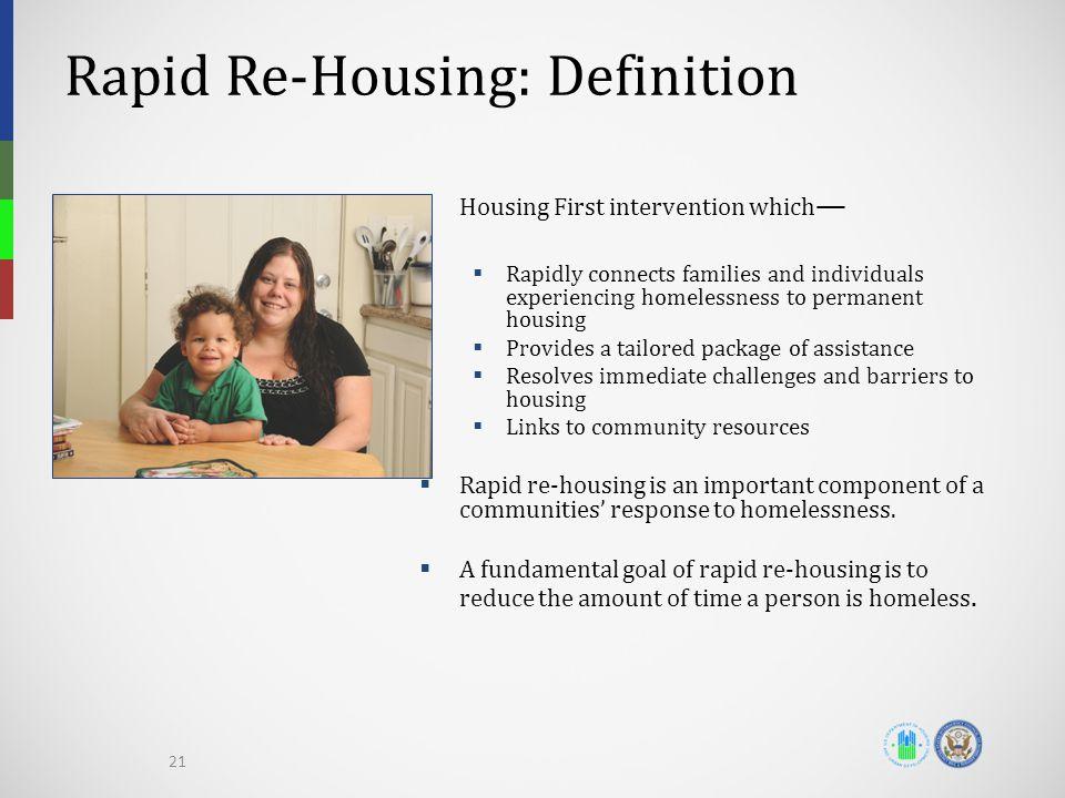 Rapid Re-Housing: Definition