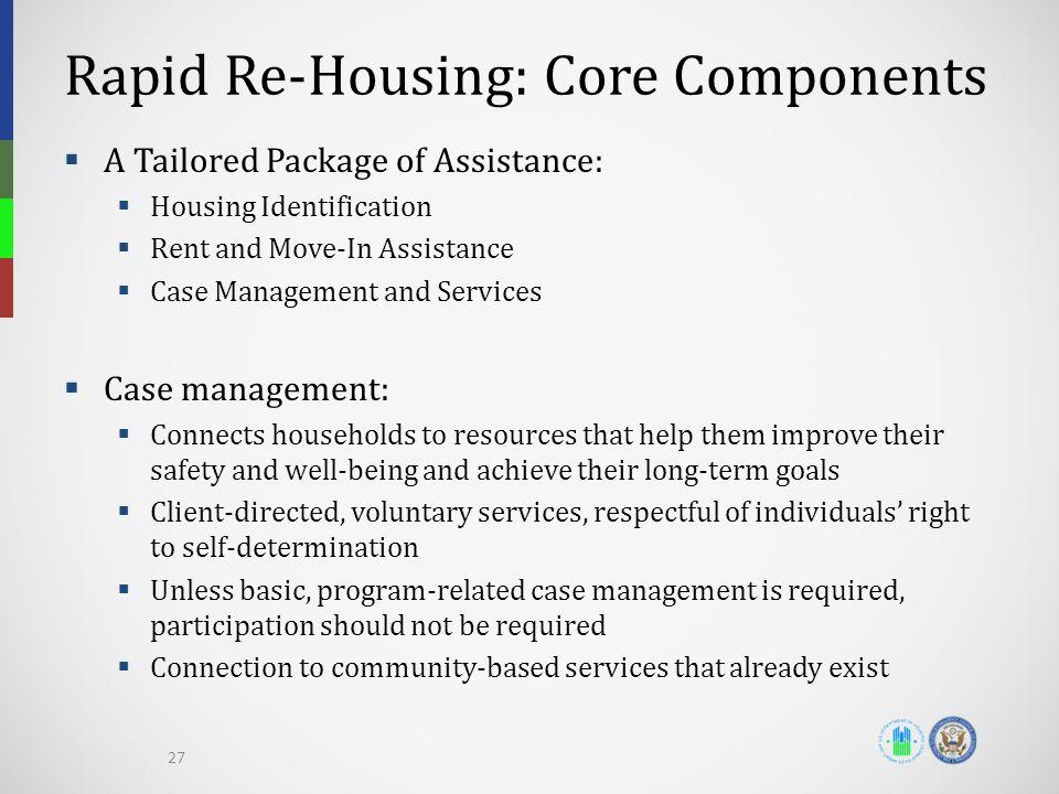 Rapid Re-Housing: Core Components