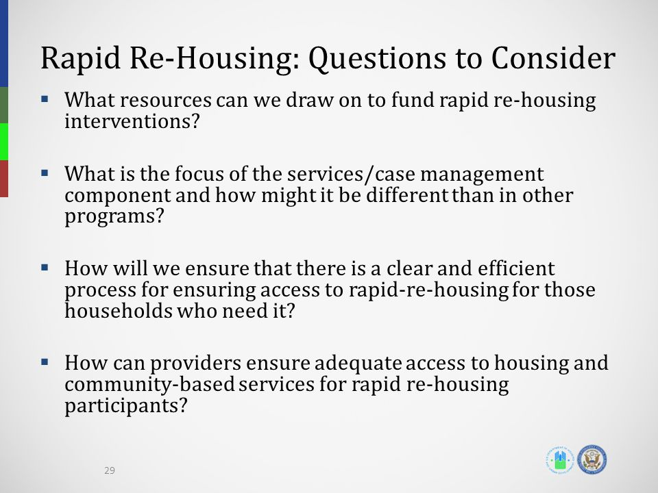 Rapid Re-Housing: Questions to Consider