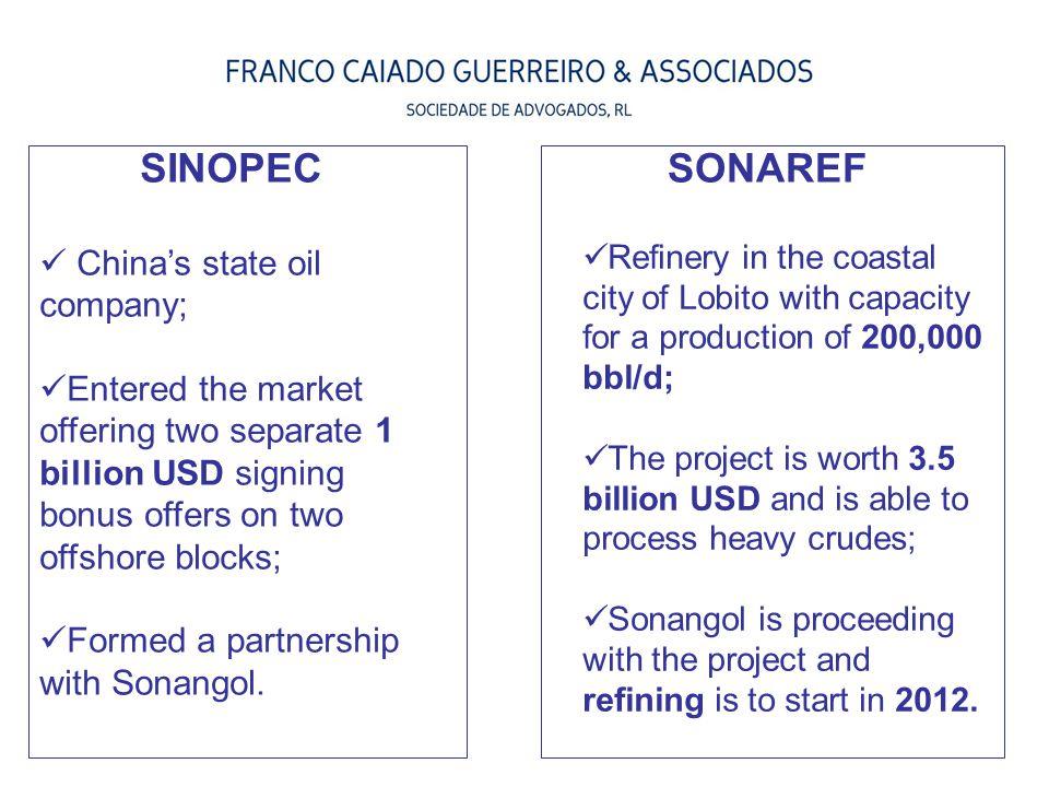 SINOPEC SONAREF China's state oil company;