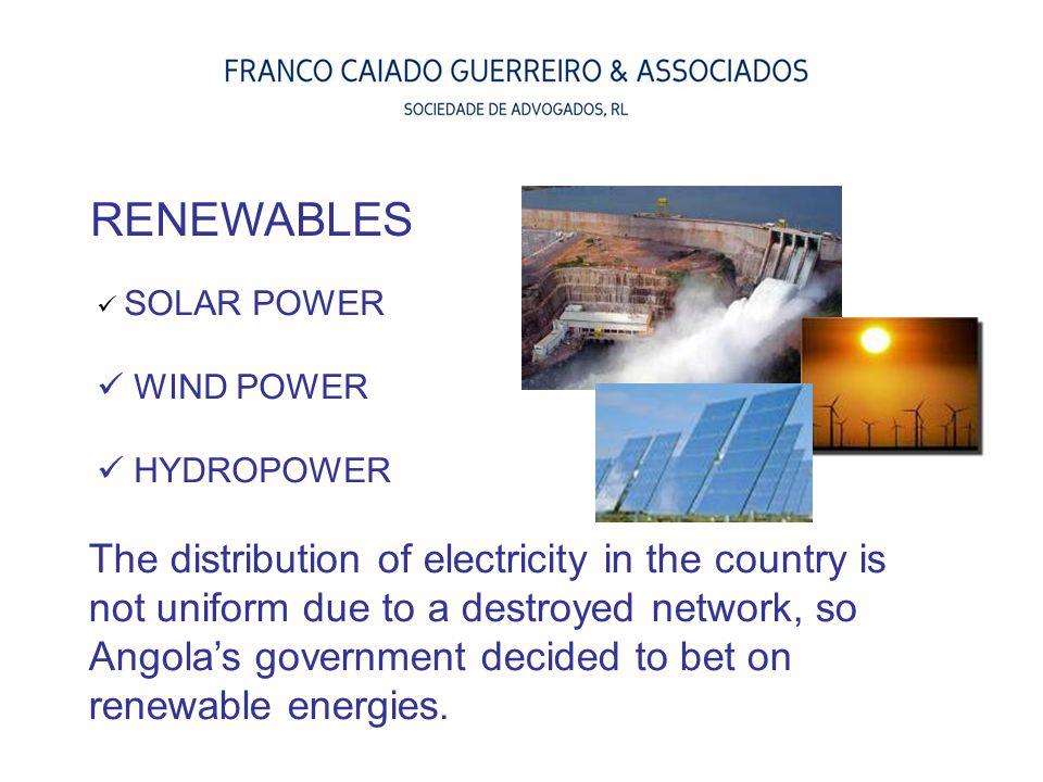 RENEWABLES SOLAR POWER. WIND POWER. HYDROPOWER.