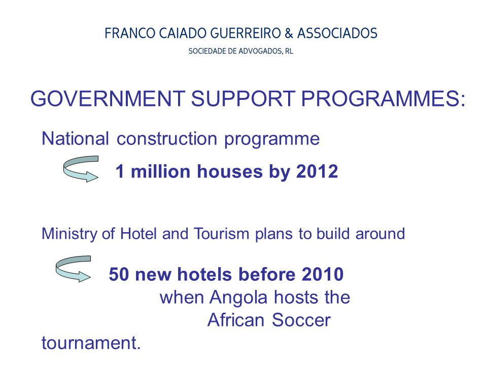 GOVERNMENT SUPPORT PROGRAMMES: