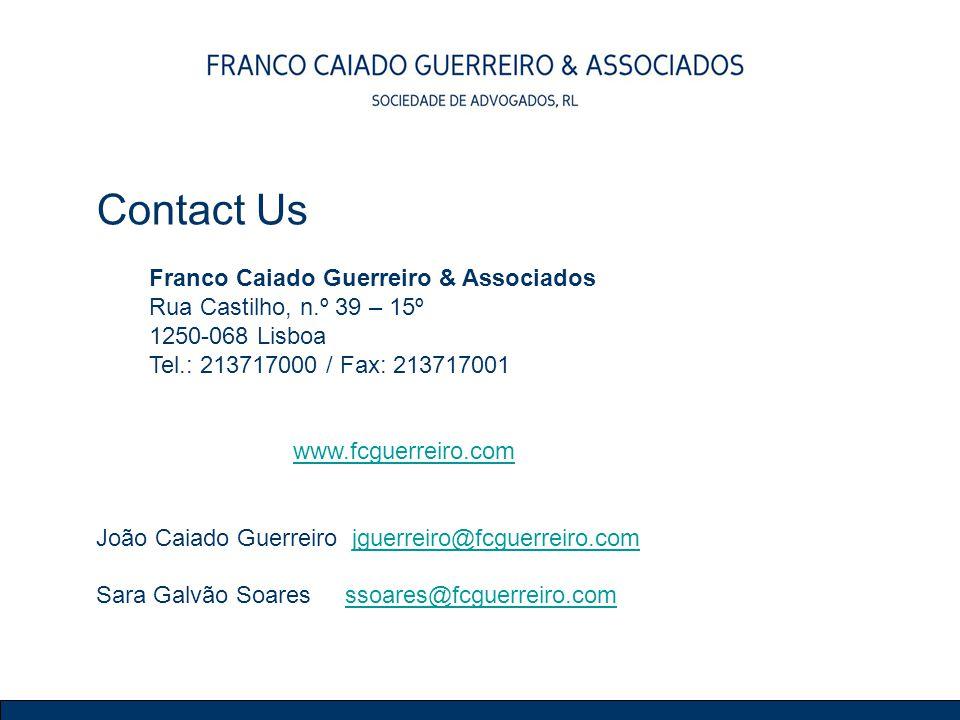 Contact Us Franco Caiado Guerreiro & Associados