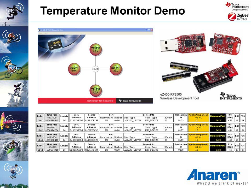 Temperature Monitor Demo