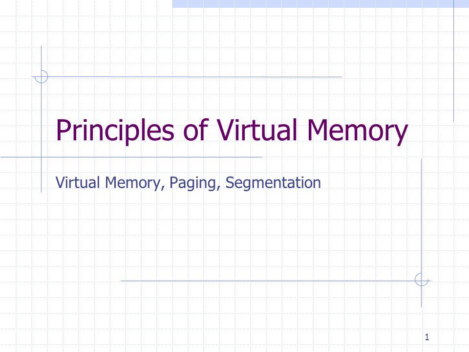 Principles of Virtual Memory