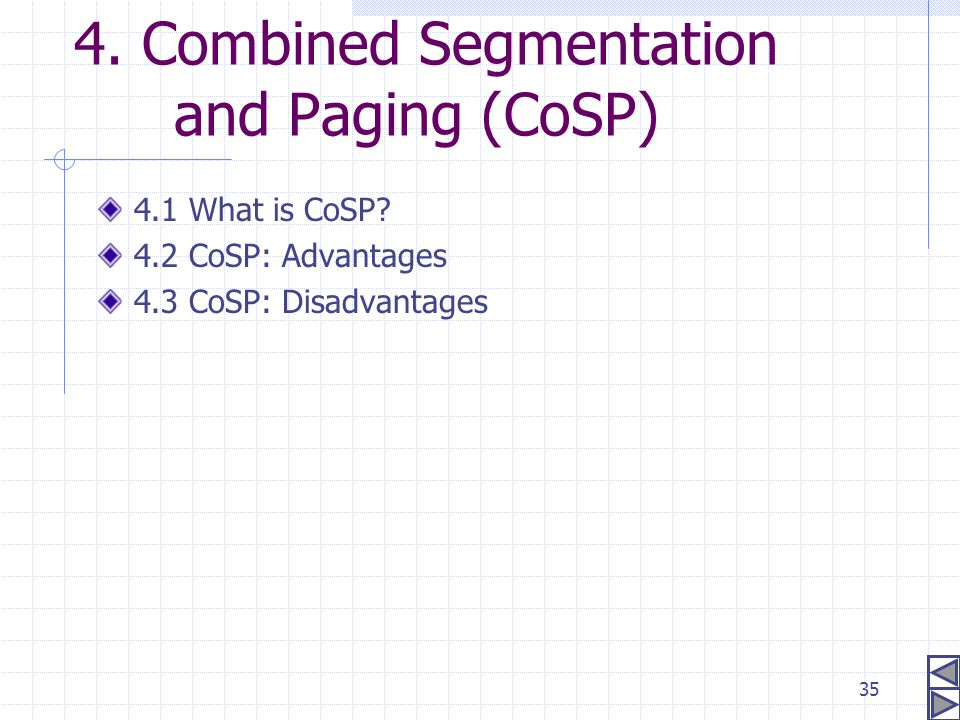 4. Combined Segmentation and Paging (CoSP)