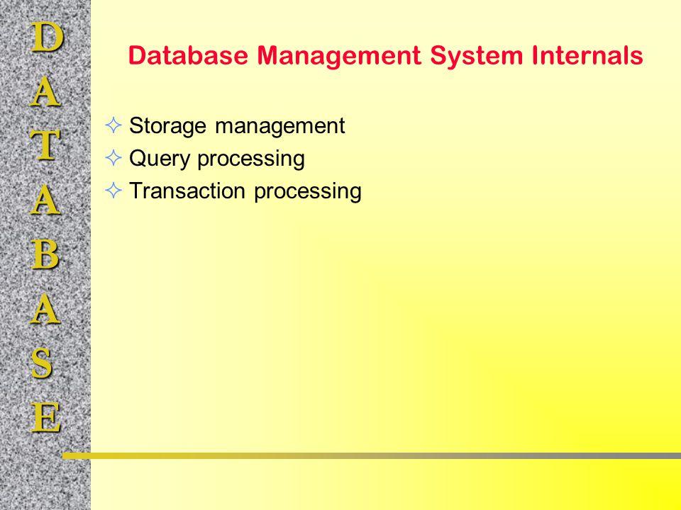 Database Management System Internals