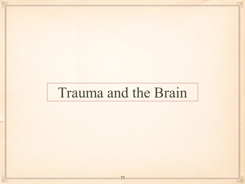 Trauma and the Brain