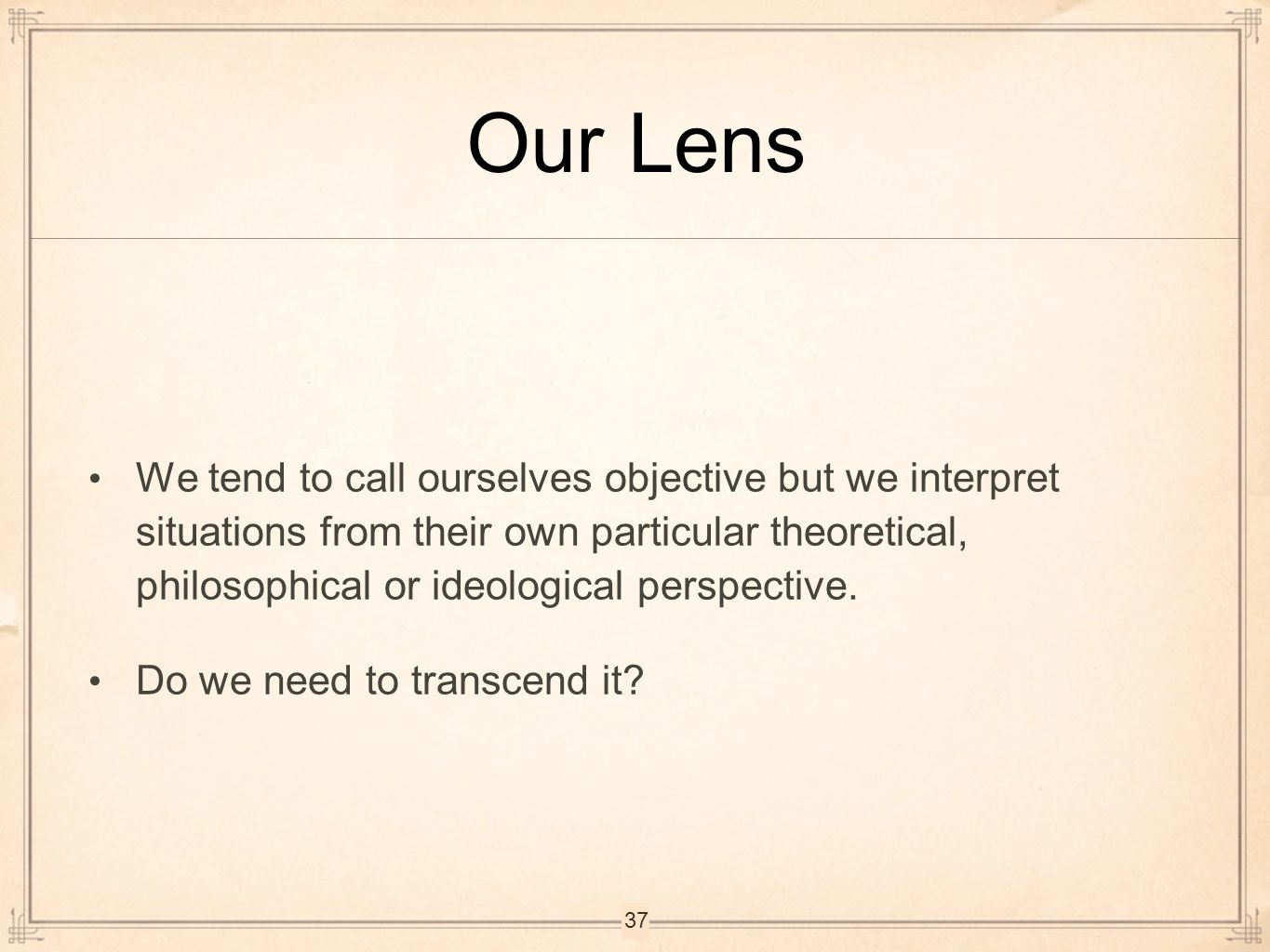 Our Lens