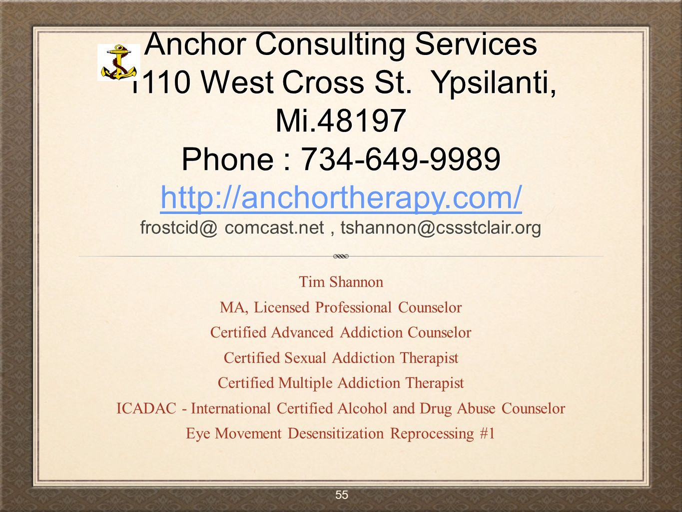 Trauma and the challenge of substance abuse disorders ppt video 55 anchor consulting xflitez Gallery
