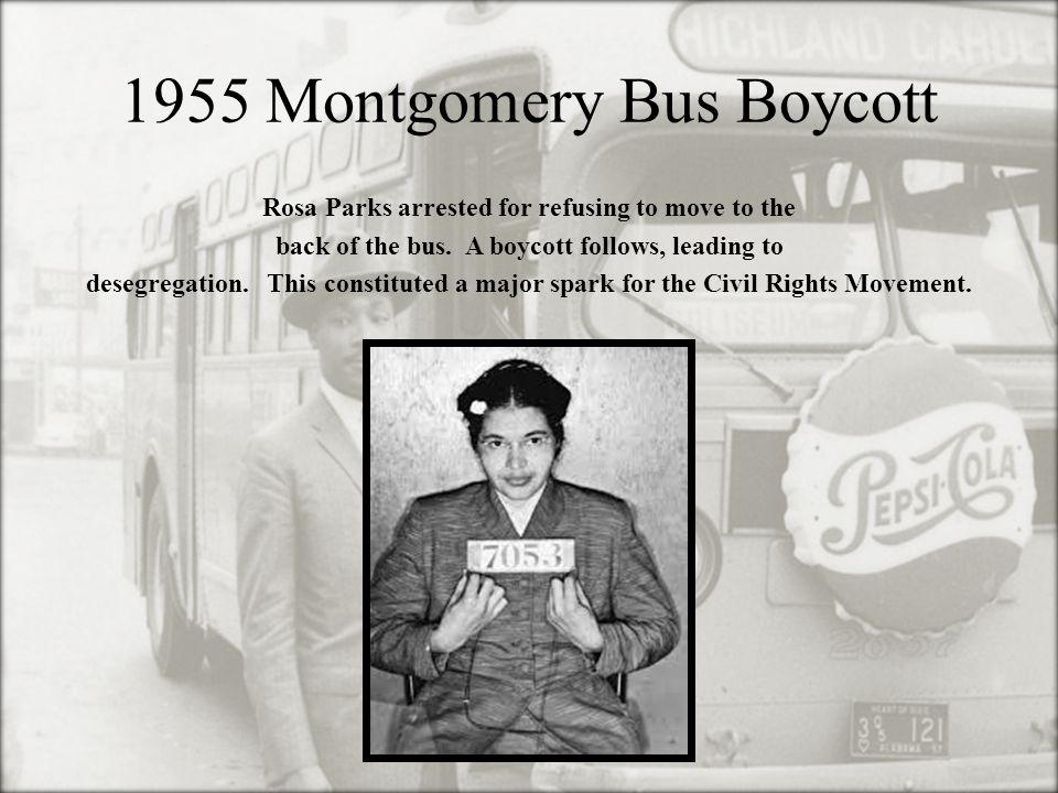 1955 Montgomery Bus Boycott