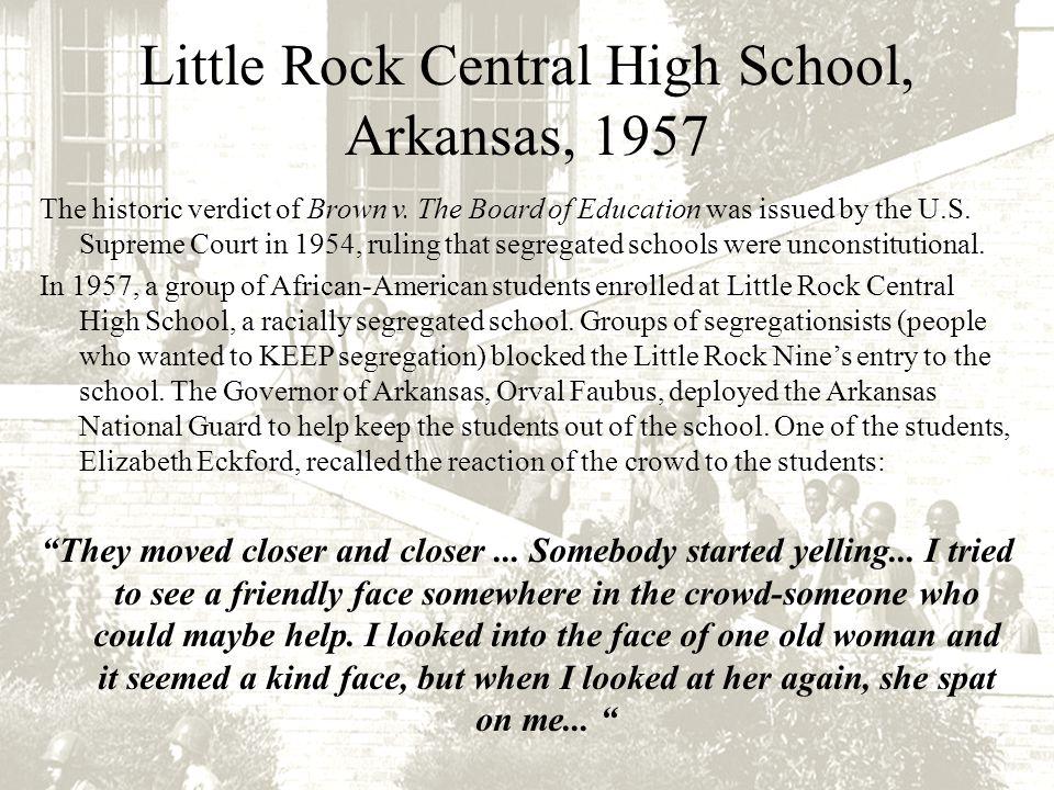 Little Rock Central High School, Arkansas, 1957