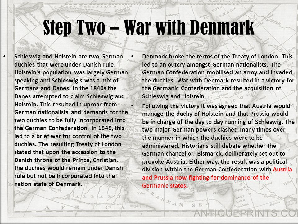 Step Two – War with Denmark