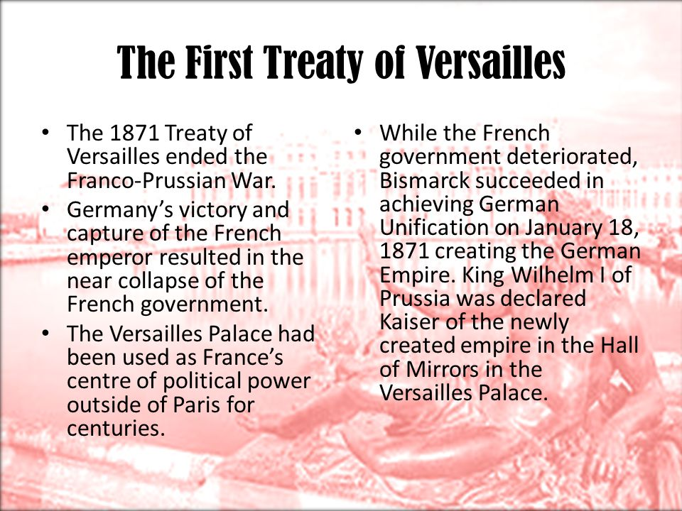 The First Treaty of Versailles