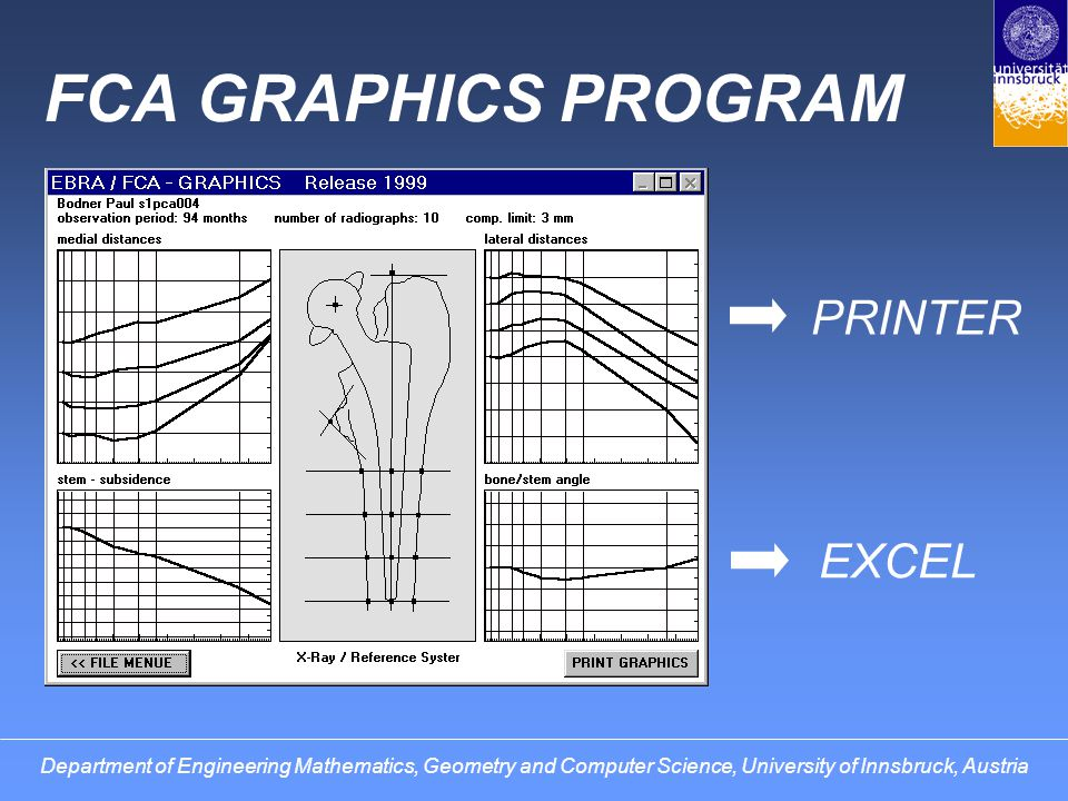 FCA GRAPHICS PROGRAM PRINTER EXCEL