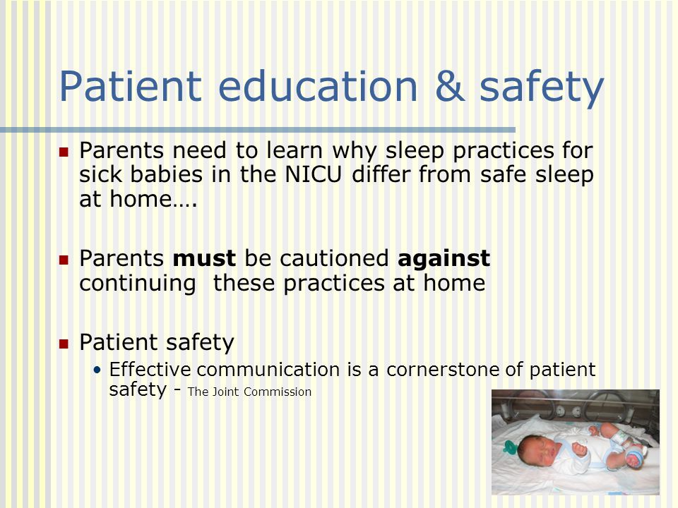 Patient education & safety
