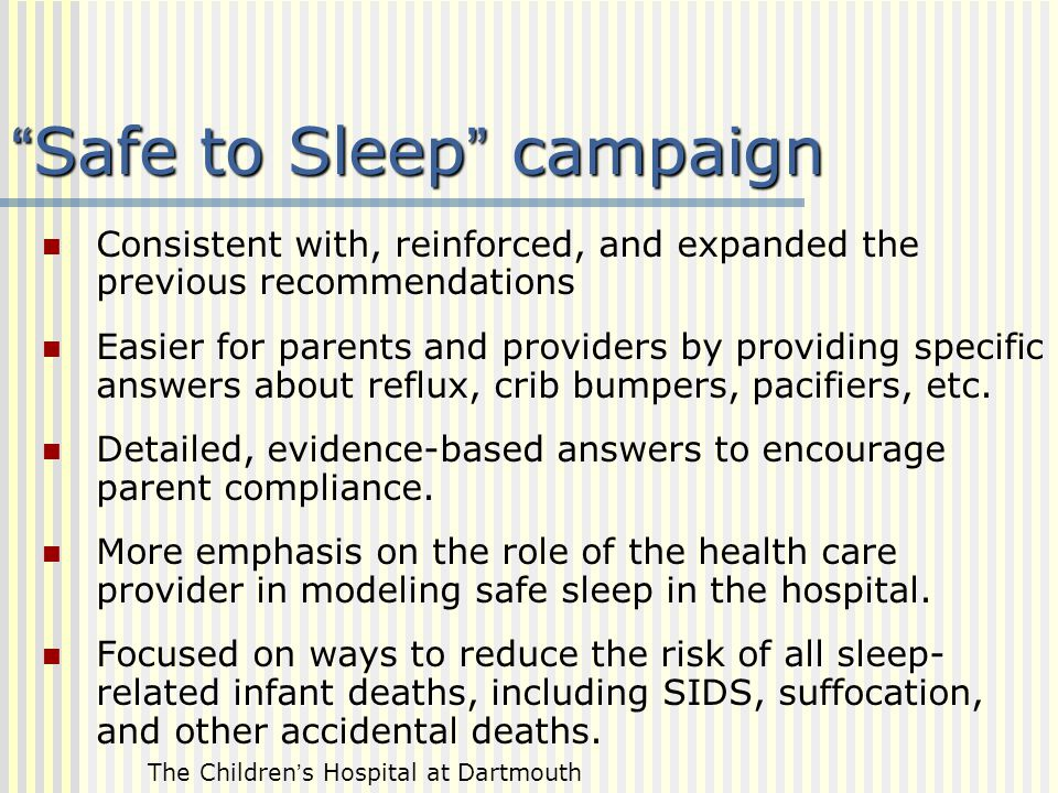 Safe to Sleep campaign