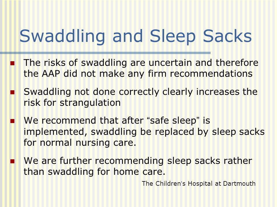 Swaddling and Sleep Sacks