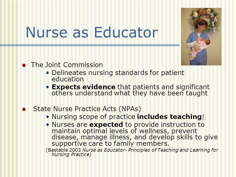 Nurse as Educator The Joint Commission