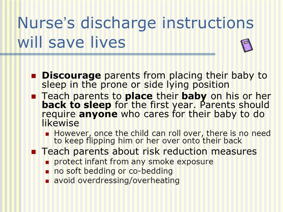 Nurse's discharge instructions will save lives