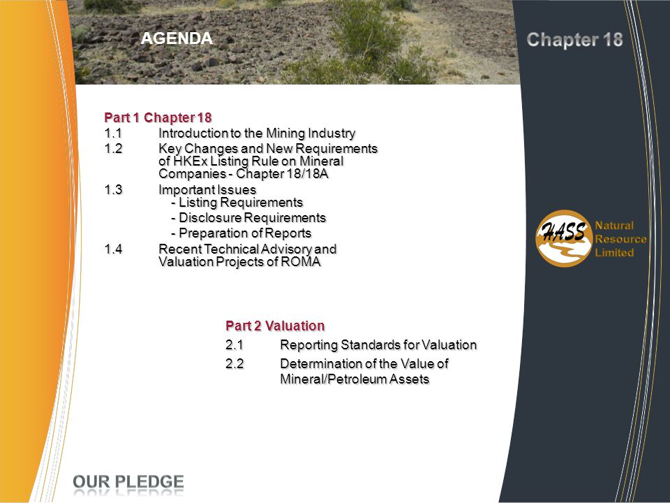 Chapter 18 Project AGENDA Experience Our Pledge Part 1 Chapter 18