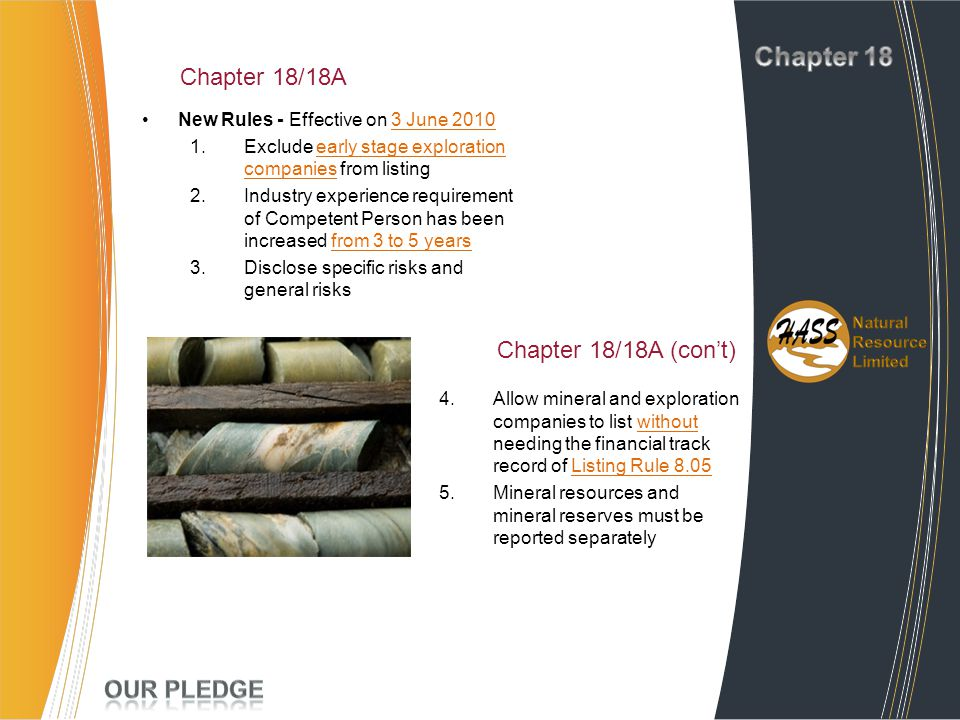 Chapter 18 Project Experience Chapter 18/18A Chapter 18/18A (con't)