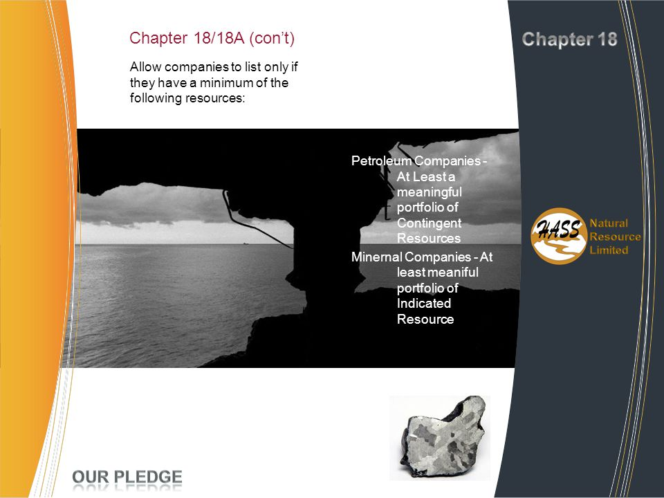 Chapter 18 Project Chapter 18/18A (con't) Experience Our Pledge