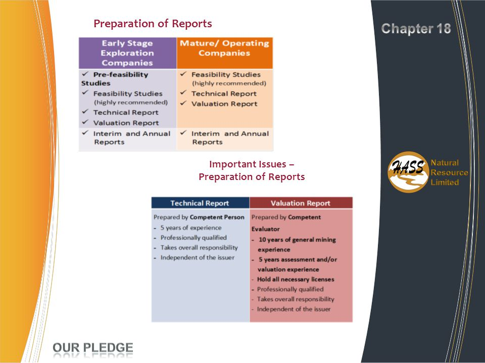 Preparation of Reports Important Issues – Preparation of Reports