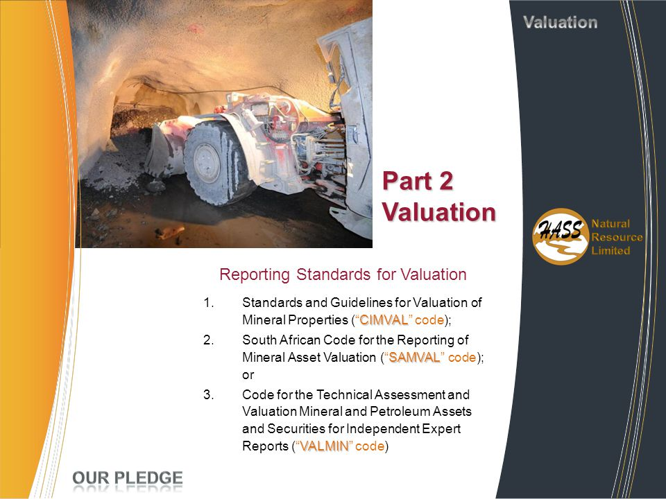 Reporting Standards for Valuation