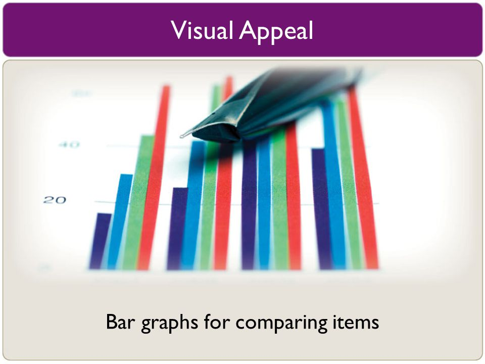 Bar graphs for comparing items