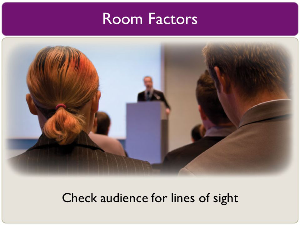 Check audience for lines of sight