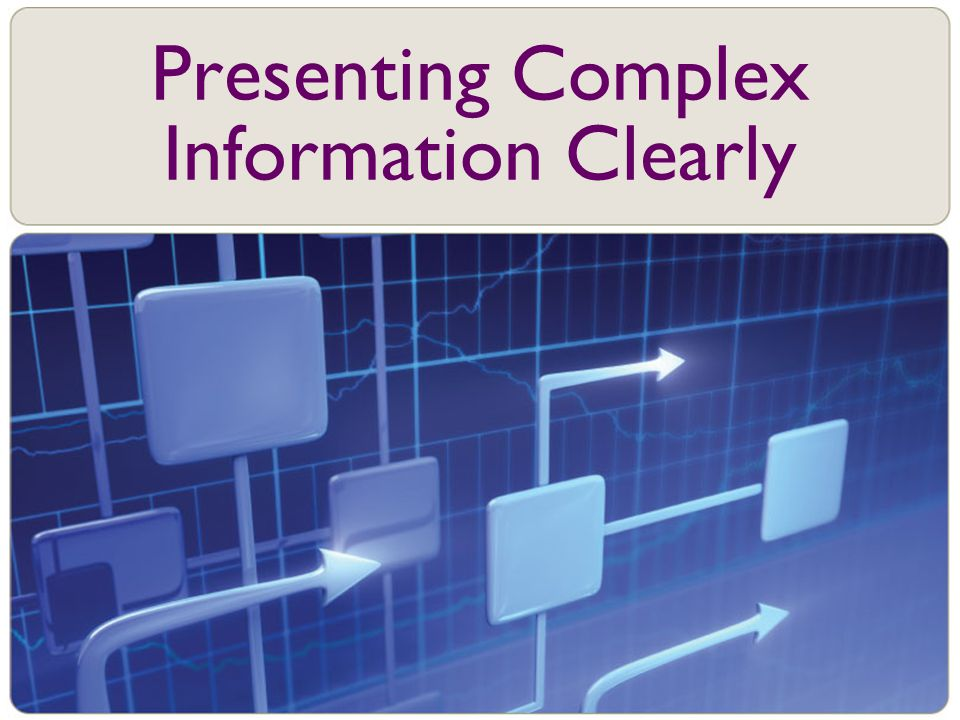 Presenting Complex Information Clearly
