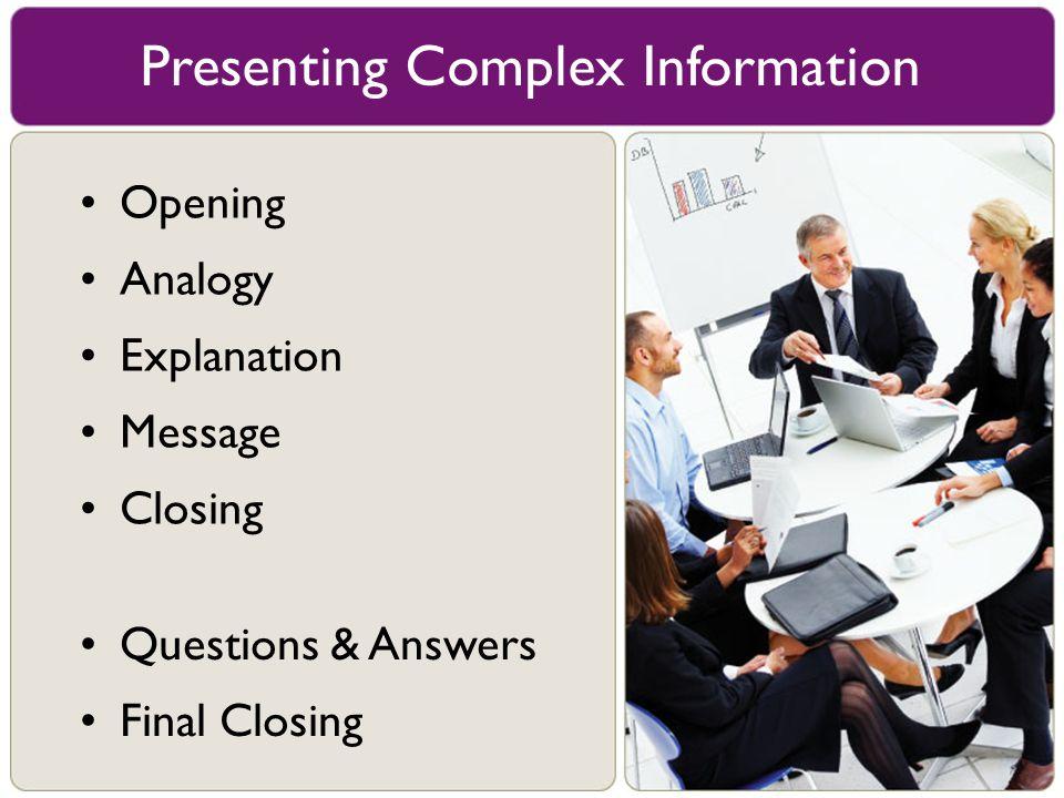 Presenting Complex Information