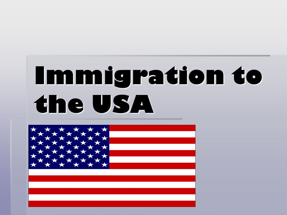 Immigration to the USA