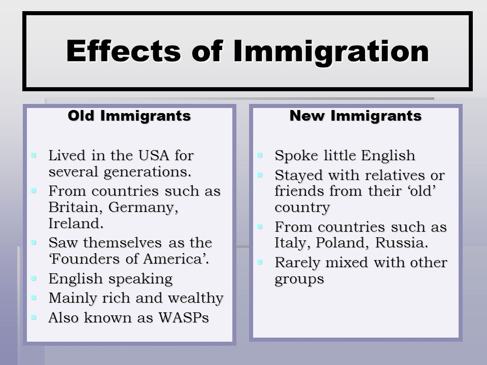 Effects of Immigration