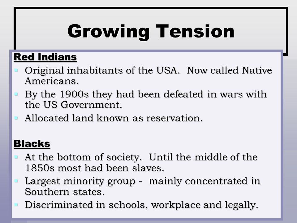 Growing Tension Red Indians