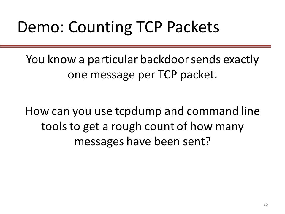 Demo: Counting TCP Packets