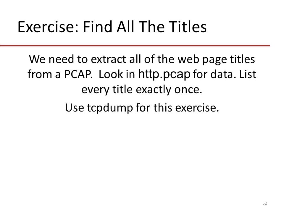 Exercise: Find All The Titles