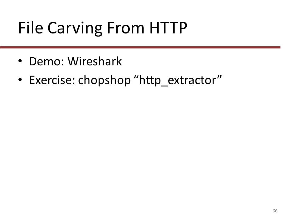 File Carving From HTTP Demo: Wireshark