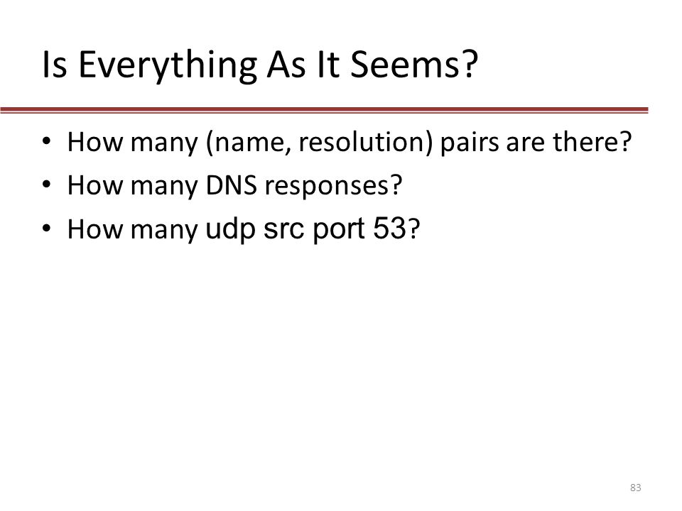 Is Everything As It Seems