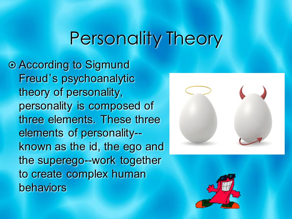 explain sigmund freud s the elements of personality Get an answer for 'what is freud's model of personality, including the id, ego, and super-ego' and find homework help for other sigmund freud questions at enotes.
