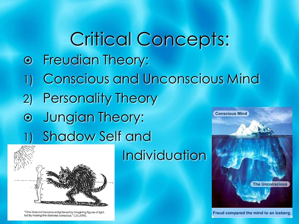 Critical Concepts: Freudian Theory: Conscious and Unconscious Mind