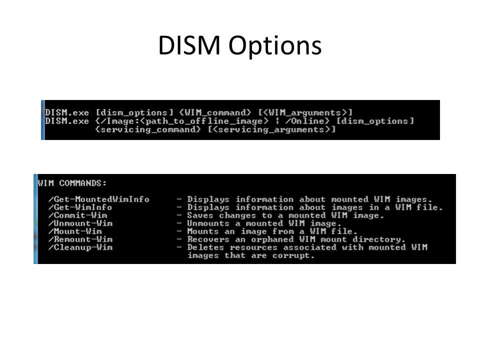 DISM Options