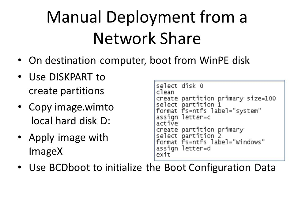 Manual Deployment from a Network Share