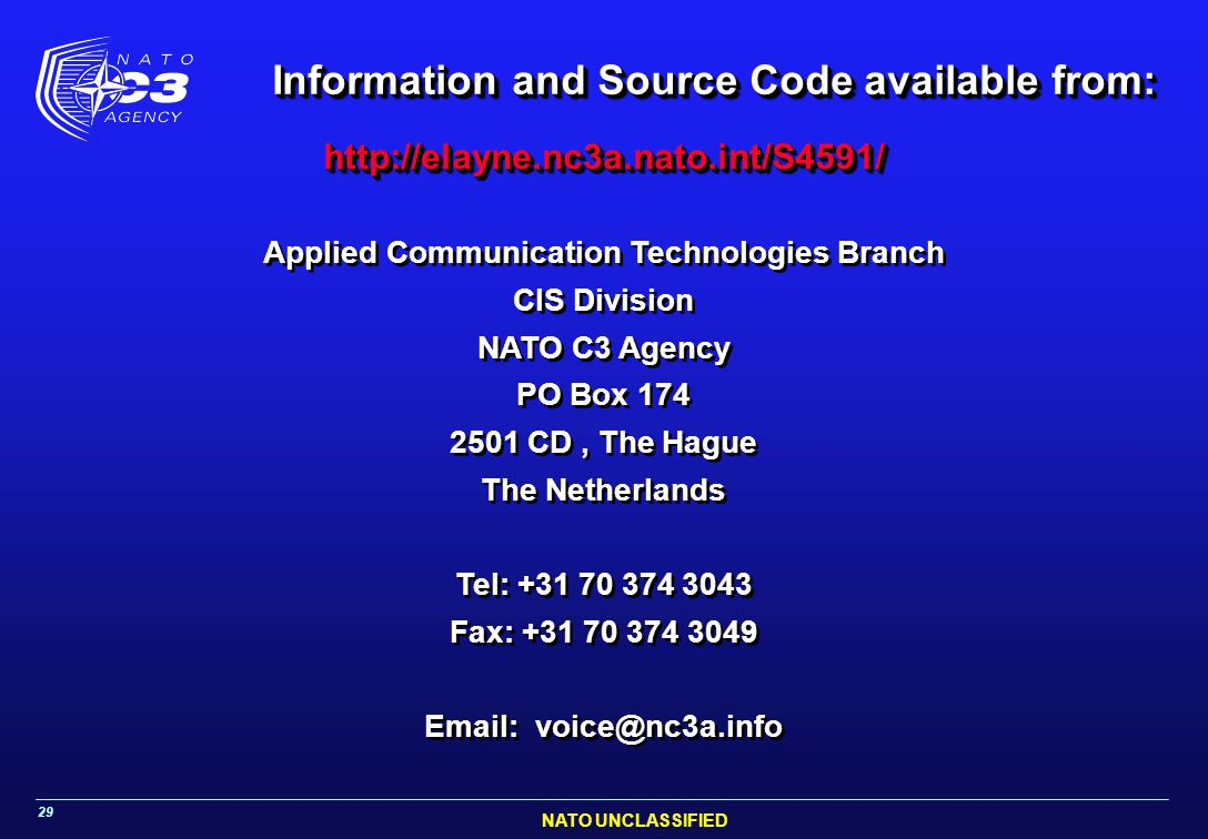 Information and Source Code available from: