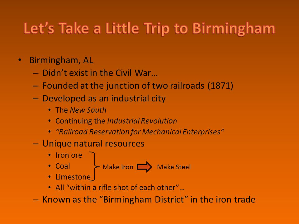 Let's Take a Little Trip to Birmingham