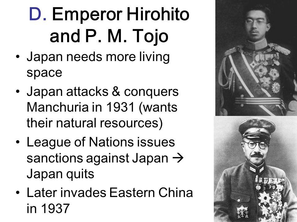 D. Emperor Hirohito and P. M. Tojo