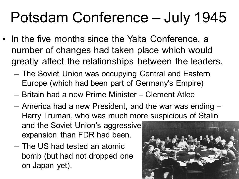 Potsdam Conference – July 1945
